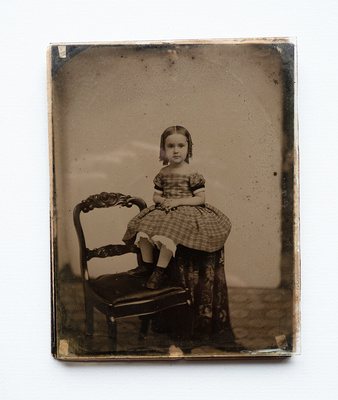 Tintype with backing