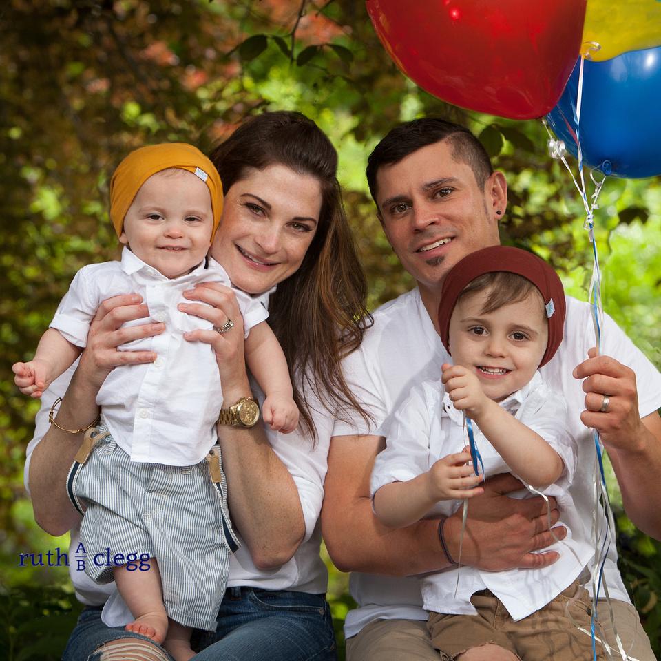Balloon Family Portrait