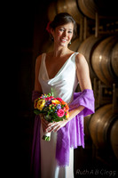Bride with the wine